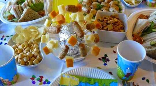 Aperitivos para fiesta de cumpleaños