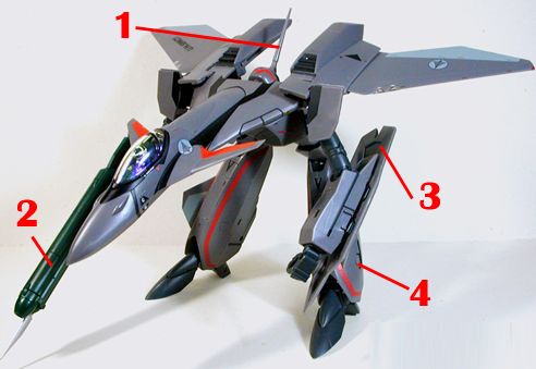 Macross Plus VF-11B Thunderbolt Armament weapon position