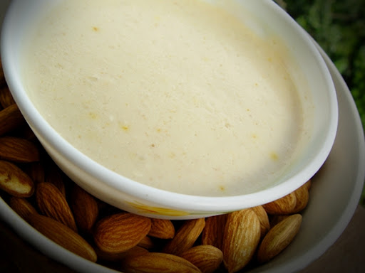 Saffron Infused Raw Almond Dessert