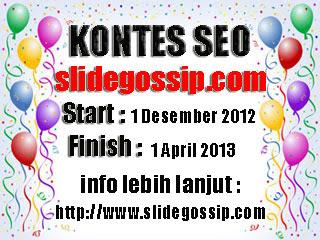 Banner kontes SEO slidegossip.com