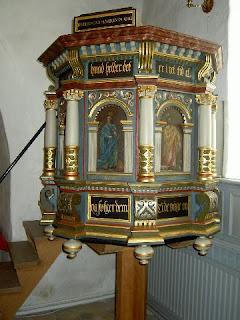 Prædikestol fra år 1560