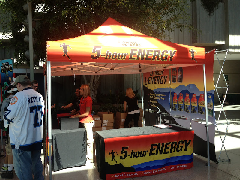 5 Hour Energy booth.