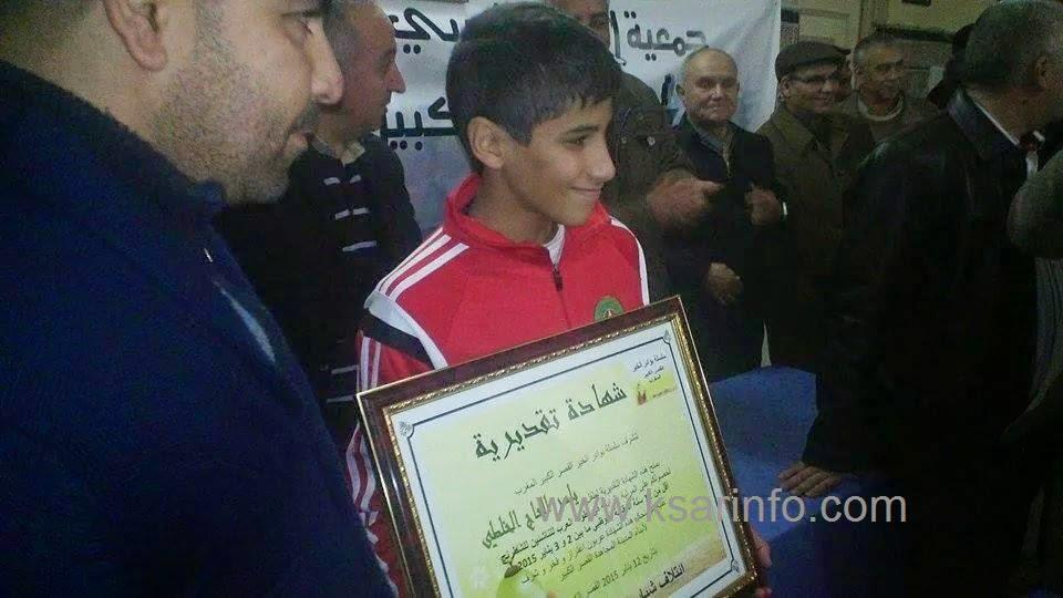 بالصوت والصورة: احتفالات بتتويج البطل ياسر الحاج الخلطي