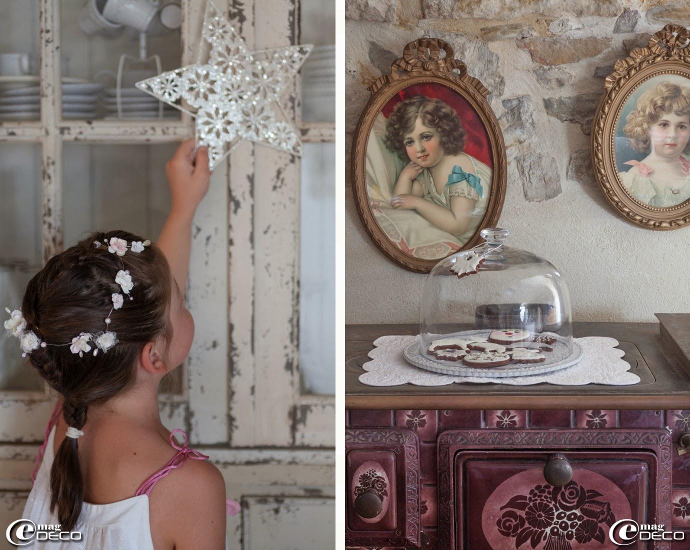 Couronne de fleurs, création 'Grange de charme', portraits de petites filles