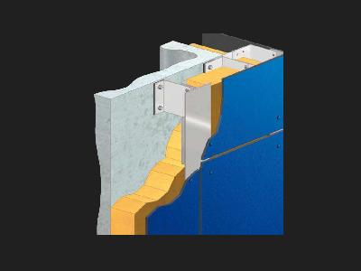 Vista del sistema de fachada ventilada Priplastic