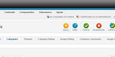 Administrar Phoca Gallery para Joomla, categorías, fotos
