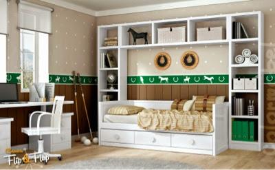 habitacion en dm lacado blanco
