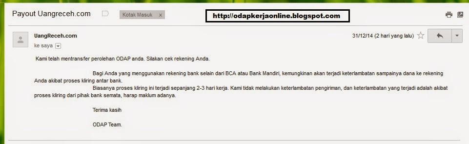 Email - Bukti Laporan Transfer Pembayaran ODAP Bulan Desember 2014