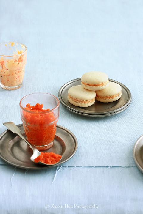 Cashew Cardamom Carrot Halwa Macarons