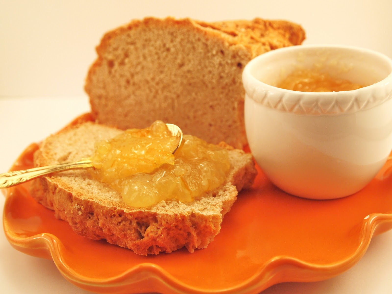 Meyer Lemon Marmalade with Irish Soda Bread