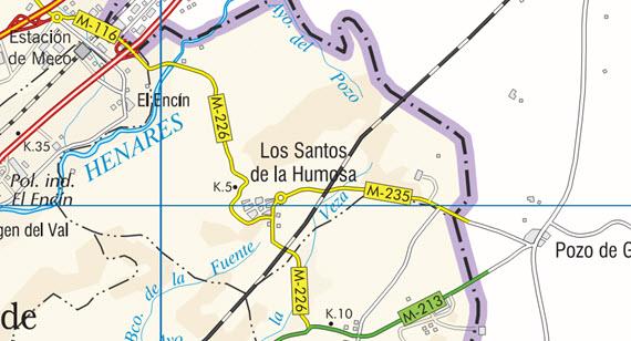 Mejora de la carretera M-235 en Los Santos de la Humosa