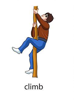 climb Verb flashcard