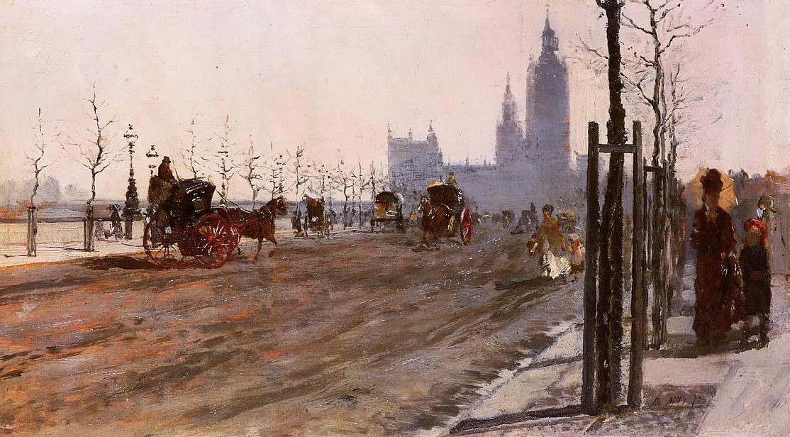 Giuseppe de Nittis - The Victoria Embankment, London
