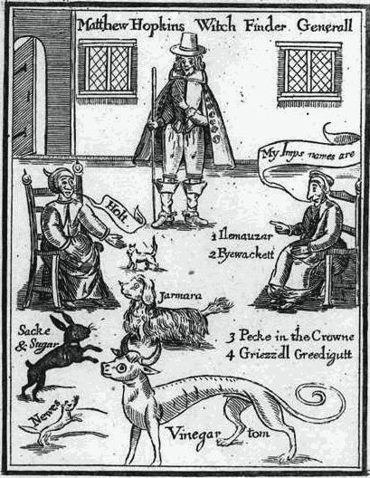 Ilustração do livro de Matthew Hopkins