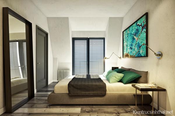 Phòng ngủ căn hộ hiện đại