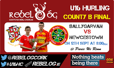 U16B hurling county final on Friday night at 8pm in Parc Ui Rinn