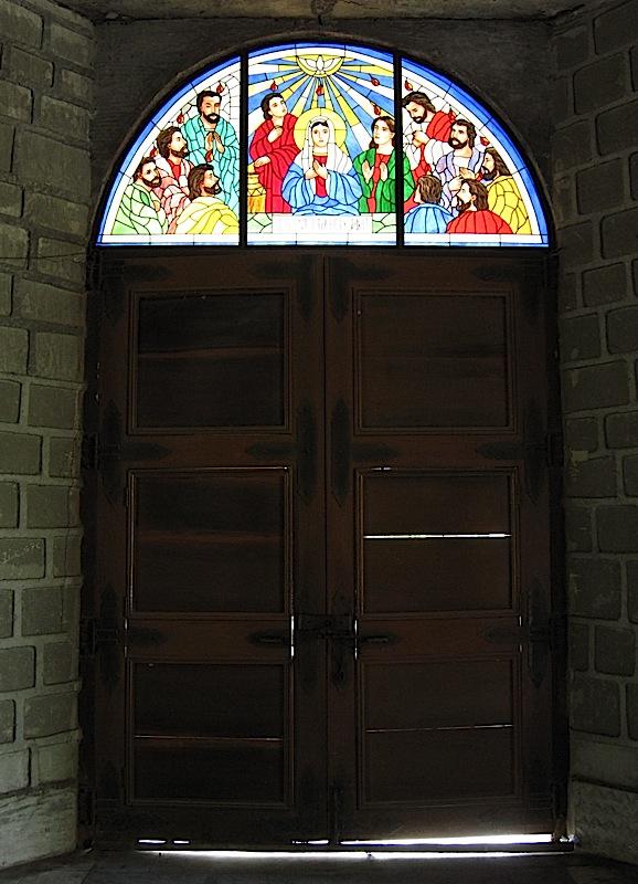 main doors of St. Michael the Archangel Catholic Church in Bacnotan
