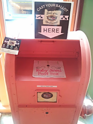Feast Ice Cream selection, Ruby Jewel Scoops Best of the Northwest Ice Cream Contest Post Box for your votes
