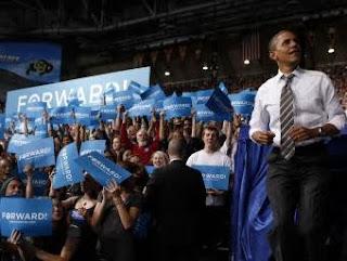 Barack Obama et ses électeurs lors de sa campagne électorale/ Photo Reuters.