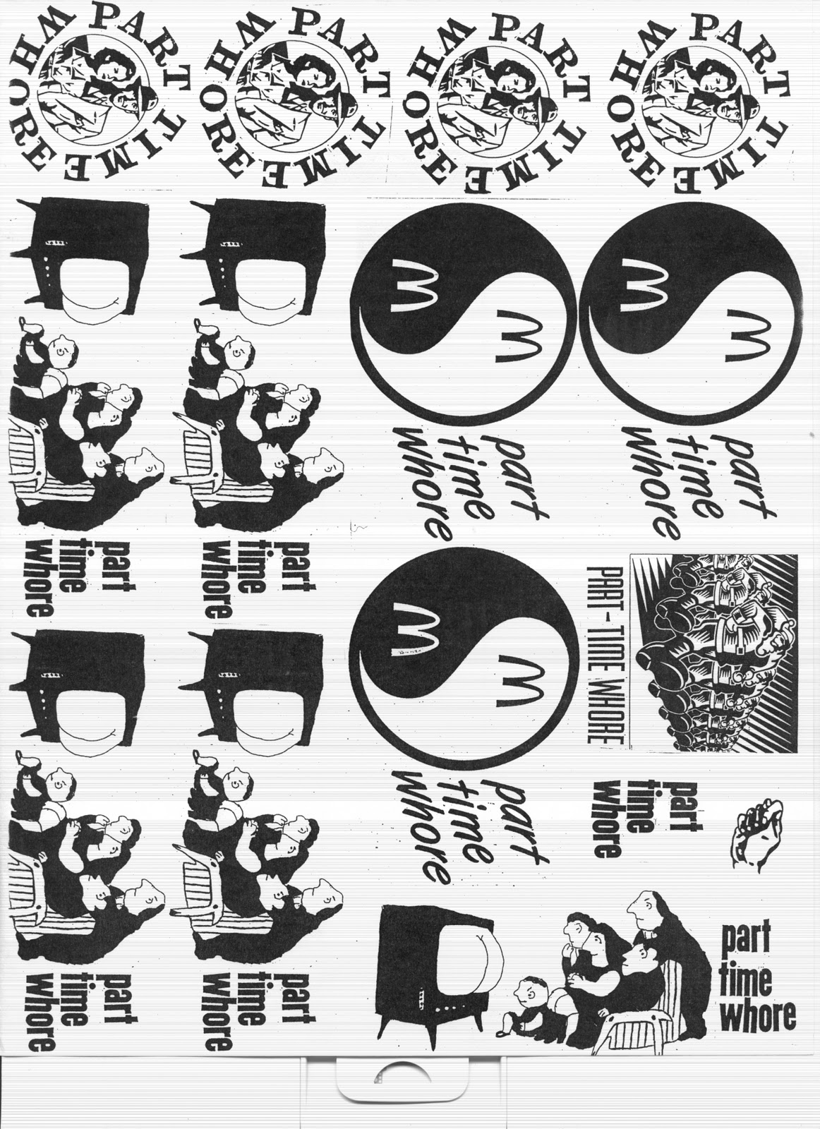 Below is a collection of graphics I would often take to Kinkos to copy off  stickers.
