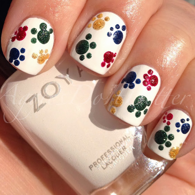 Aggies Do It Better: Paw prints nails