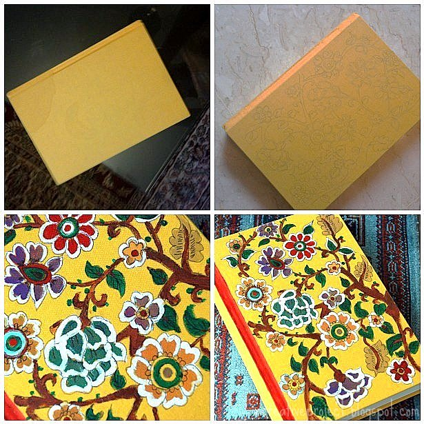 Book Cover Watercolor Paintings : A creative project madhubani painting on book cover