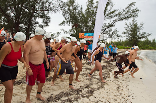 Relay Wave Start - UWC Triathlon Bahamas