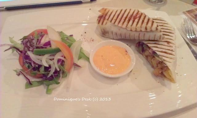 Chicken Wrap with Salad on the Side