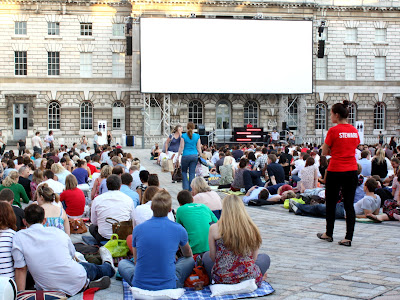 Outdoor cinema at So