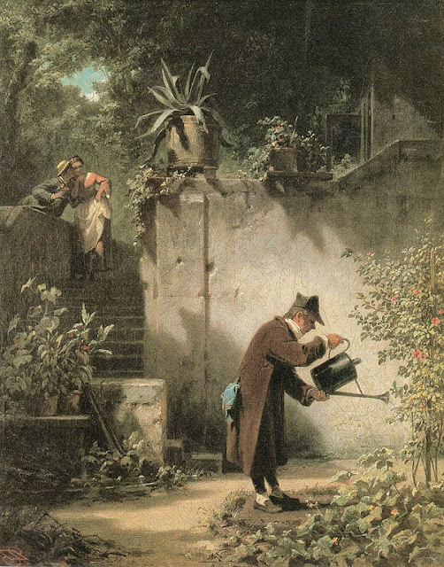 Carl Spitzweg - Der Blumenfreund.The flower friend