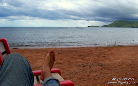 Lake Tanganyika from the beach