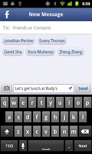 facebook touch app for android
