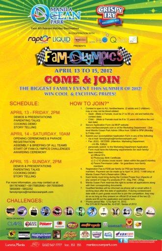 Fam-O-Lympics at Manila Ocean Park