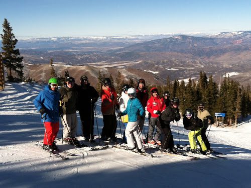 My first clinic group at Snowmass. What a great day!