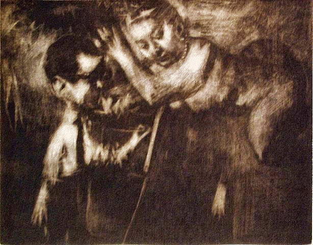 Jack Levine - Self Portrait with Muse