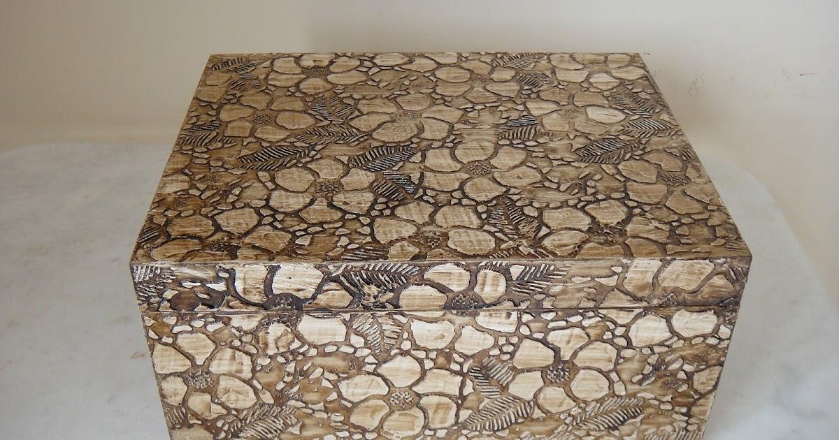 Adesivo De Guarda Roupa Infantil ~ Artesanatos Goi u00e2nia Mina das Artes Caixas para bijouterias Pintura em madeira com Textura e