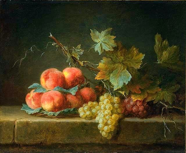 Anne Vallayer-Coster - Still Life with Peaches and Grapes
