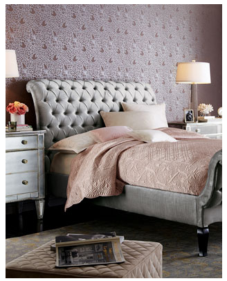 horchow platinum tufted bed - copycatchic