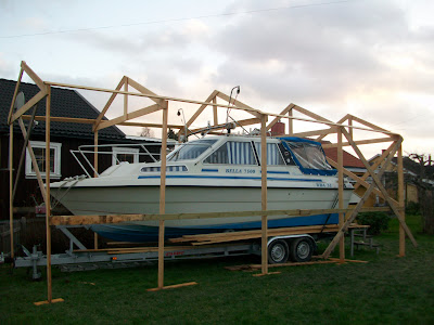 bygga ställning båt
