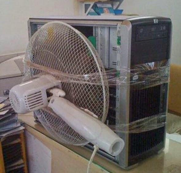 Ventilador demasiado grande para un ordenador
