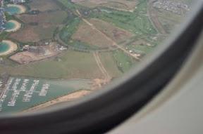 Flying into Oahu