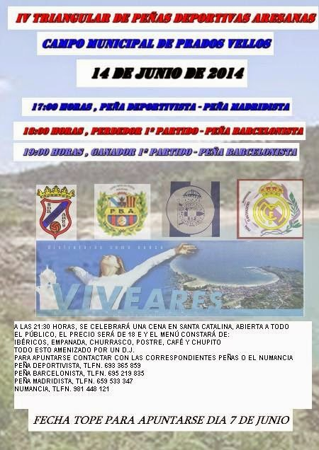 IV Triángular de Peñas Deportivas Aresanas.