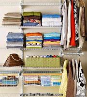 Cách trang trí tủ quần áo để được chồng khen