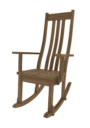 Winslow Rocking Chair in Rustic Oak