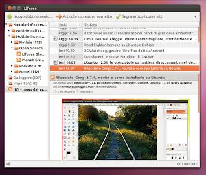 Liferea su Ubuntu