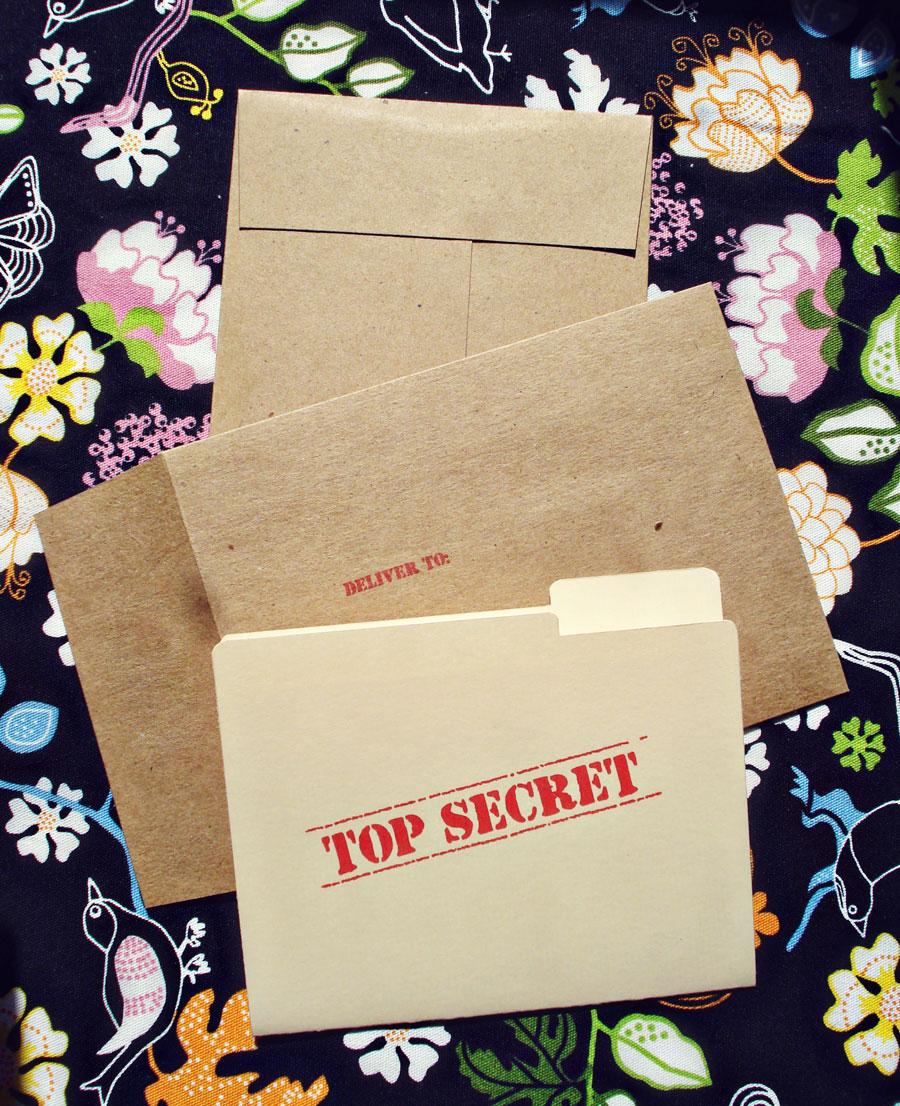 : Top Secret Surprise Invitations