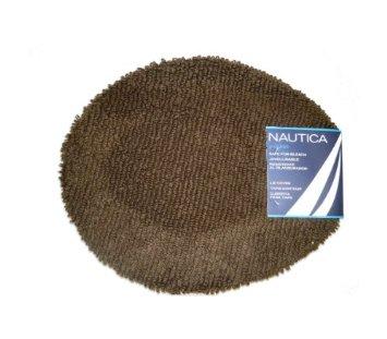 Nautica J Class Bleach Safe 100 Percent Cotton Bath Rug Lid Toilet
