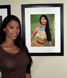 Modelo fotografada como Pocahontas
