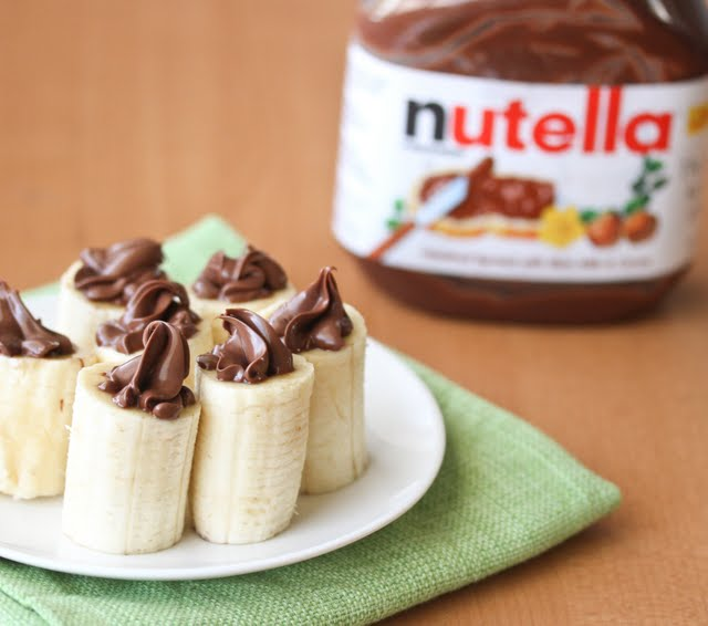 close-up photo of nutella stuffed bananas
