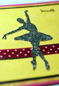 Ballerina (yksityiskohta pinkki-keltaisesta kortista)